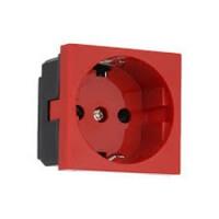 Розетка электрическя  45х45мм, 16 А, 250 V AC (белая, красная)