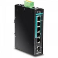 Коммутатор TI-PG541 5-портов выносливый Gigabit PoE+ с блоком питания  TI-S12048 48V 120w